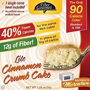 FiberGourmet Lite Cinnamon Crumb Cake, 1.25-Ounce Boxes (Pack of 12)