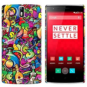 Theskinmantra Alcohol back cover for OnePlus 1