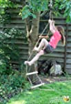 Rope Ladder Tree Swing - Solid Wood T...