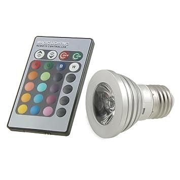 fosmon technology ampoule led led multicolore avec t l commande luminaires et eclairage. Black Bedroom Furniture Sets. Home Design Ideas