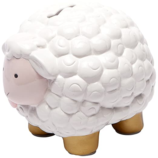 Amazon.com : C.R. Gibson Ceramic Bank, Pink and Gold Sheep : Baby
