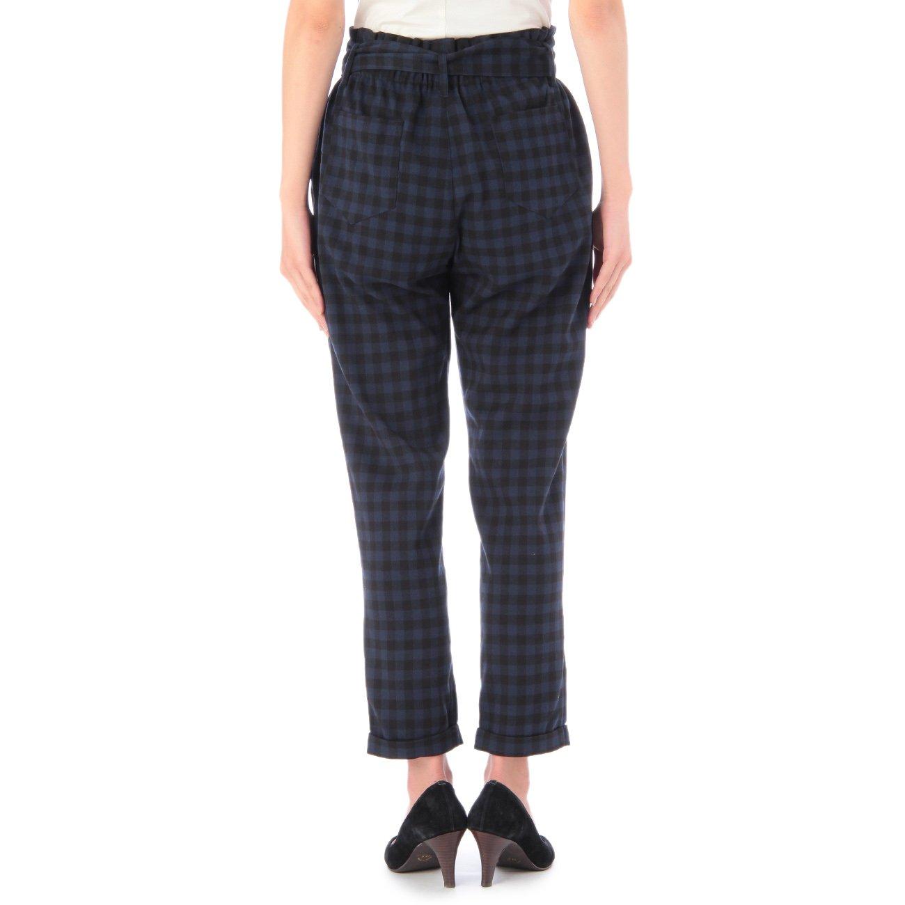 Amazon.co.jp: (インデックス)INDEX チェック柄ハイウエストパンツ: 服&ファッション小物通販