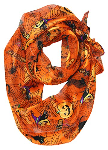 Stylish Satin Halloween Pumpkins Scarf