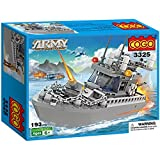 #6: Toyshine Army Patrol Boat Building Blocks, Multi Color (193 Count)