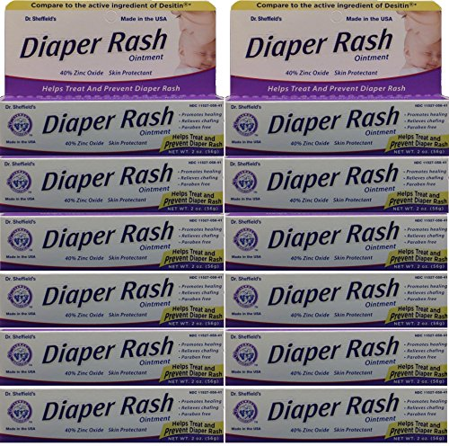 Diaper Rash Ointment to Prevent and Treat Diaper Rash Generic for Desitin Maximum Strength 40% Zinc Oxide 2 oz. per Tube Pack of 12 - 1