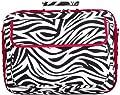 World Traveler 15-inch Zebra Print with Red Trim Laptop Bag