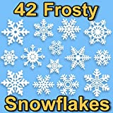 42 PVC Snowflake Window Stickers