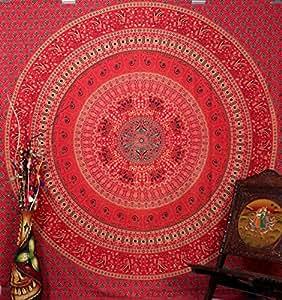 Buy Handicrunch Mandala Wall Hanging Home D Cor Tapestry Handicrunch Red Elephant Peacock