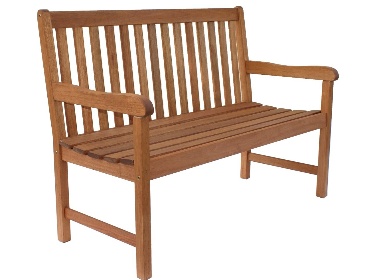 Amazonia Milano 4-Feet Eucalyptus Bench - Outdoor Patio Furniture