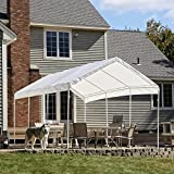 "ShelterLogic 10x20 1-3/8"" 8-Leg Canopy (White)"