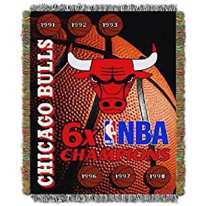 Chicago Bulls Woven Tapestry Throw Blanket by Northwest