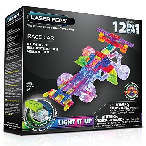 Laser Pegs 12-in-1 Race Car Building Set (Car Building Set compare prices)