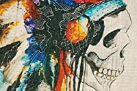 2014 Printing Cushion Cover Watercolor Skull Headdress Pillow Cover Sofa Cover Decorative Pillows by Pillowcase