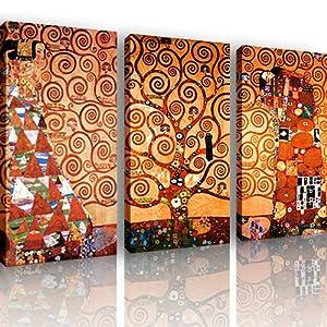 S68 l 39 albero della vita 3 quadri moderni 120x80 cm stampa digitale su tela ideale per - Quadri moderni per cucina ...