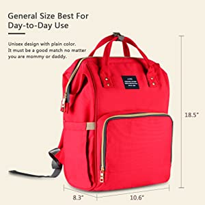 HaloVa Diaper Bag Multi-Function Waterproof Travel Backpack Nappy Bags for Baby Care, Large Capacity, Stylish and Durable, Black (Color: Black)