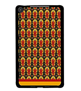 PrintDhaba Lord Ganesh Pattern D-1551 Back Case Cover for ASUS GOOGLE NEXUS 7 2013 (Multi-Coloured)