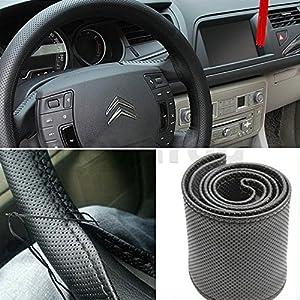 SODIAL(R) DIY Fundas para volante con Agujas e hilo Color Negro de SODIAL(R)