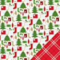 American Crafts Be Merry Stockings Christmas Scrapbook Paper