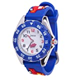 Kids Watch, 3D Cute Cartoon Waterproof Silicone Watch for Girl and Boy,Children Toddler Wrist Watches - K (Color: Blue Fireengine, Tamaño: Small)