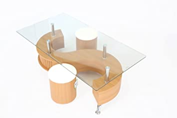 S-Shape Coffee Table Beech