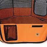 amzdeal® Welpenlaufstall Hundebox faltbare Orange (37 x 37 x 92cm) -