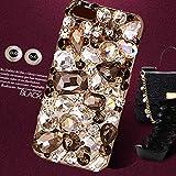 新発売 iPhone6S / 6S Plus ケース SPRING COME® 3D オシャレ ゴジャース 大人 デコ電 ダイヤー クリスタル ケース Apple アイフォン キラキラ 輝く 6s iPhone6 /Phone6S / 6 /  対応 2015(アイホン6, クリスタル 黒) [並行輸入品]