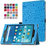 MoKo Fire HD 8 2015 Case - Slim Folding Cover with Auto Wake / Sleep for Amazon Kindle Fire HD 8 Inch Display Tablet (2015 Release Only), Cutie Charm BLUE