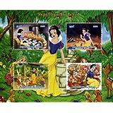 Sellos de Disney para coleccionistas - Blancanieves y los siete enanos - 4 perfecto estado sellos que ofrecen...