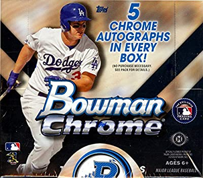 2015 Bowman Chrome Baseball Jumbo Hobby Box (12 packs/box, 13 cards/pack, 5 Autographs/box, Look for Die-Cuts, 1/1 SuperFractors, Kris Bryant Rookie Cards & Autos) Release Date 9/2