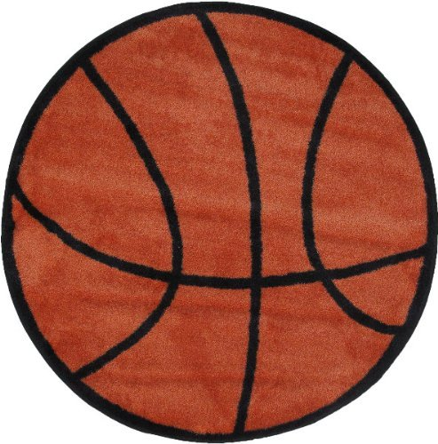 Basketball Rug - 39 Round by Fun Rugs