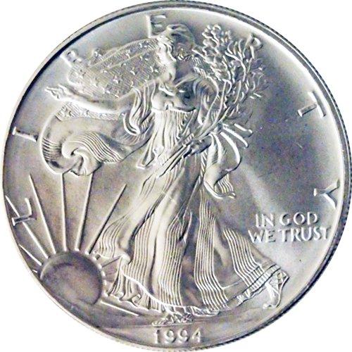 1994 Us .999 Silver Eagle Ounce Oz 1 Dollar Coin Bu Unc