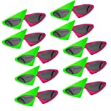 Fityle 10/pack Novelty Roy Purdy Sunglasses Glasses Hip Hop Costume Party Props (Color: Roy Purdy, Tamaño: as described)