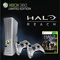 Games The Limited Edition Premium Bundle includes: Halo - Reach game, Two Xbox 360 Wireless Controllers, 250GB Hard Drive, Xbox 360 Headset (black), and More ports.