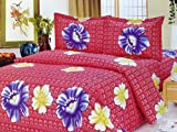 ROZA FLORAL BEDCOVER WITH BEDSHEET SET,BOX PACKING, DOHAR SET, SOFT COTTON