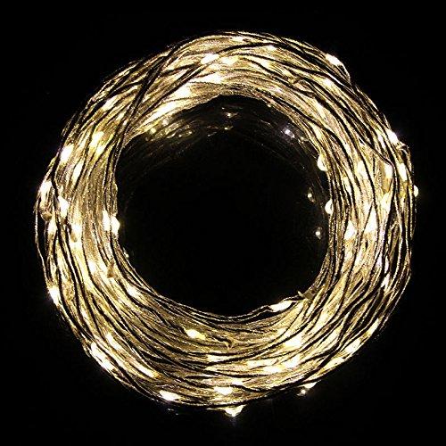 Ljy Copper Wire 180-Led Warm White Light Vine String Lights Strip Tree Wedding Xmas Party Fairy Decoration