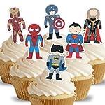 Cakeshop 12 x PRE-CUT Assorted Superh...