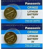 Panasonic Battery - 2 PACK- CR1632 3V 3 Volt Lithium Coin Size Battery