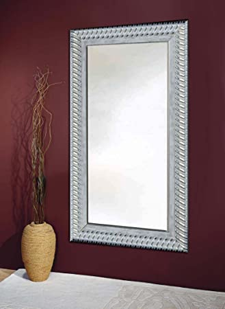 Wood dressing mirrors: model WOLVERHAMPTON. Colour: Grey Silver.