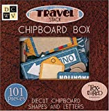 Diecuts With A View Chipboard Embellishments Boxed Travel Shapes and Letters, Textures 101Pieces
