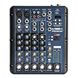 Freeboss Smr6 2 Mono 2 Stereo 6 Channels 16 DSP Audio Mixer with USB