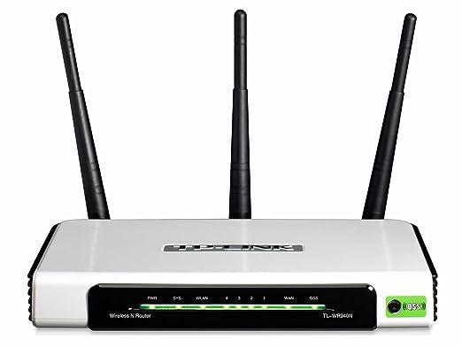 TP-LINK TL-WR940N Wireless N300 Home Router, 300Mpbs, 3 External  Antennas, IP QoS, WPS