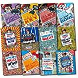 Martin Handford Where's Wally? Collection 12 Books Set (The Search for the Lost Things) (Fantastic Journey, In Hollywood, Wonder Books, Odlaw's Binoculars, Wally's Key, Woof's Bone, Wenda's Camera, Wizard Whitebeard's Scroll, Spectacular Poster, Sticker,