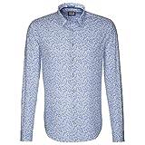 Seidensticker Herren Hemd Schwarze Rose Slim Fit blau / weiß gemustert Gr. 38 - 46 / 429635.13