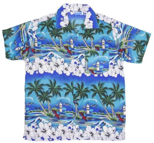 ragstock-mens-hibiscus-palm-tree-ocean-print-hawaiian-aloha-shirt-blue-x-large
