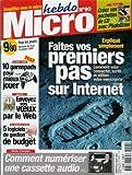 Micro hebdo - n°90 - 06/01/2000 - Vos premiers pas sur internet...