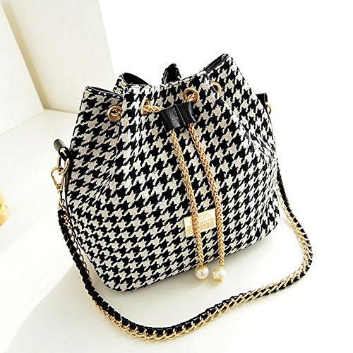 Chunshop Fashion Shoulder Bags Satchel Clutch Women Handbag Tote Purse Messenger Hobo Bag (Houndstooth)
