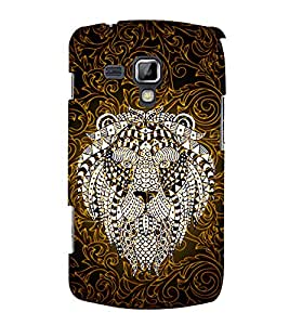 Indian Lion Graphics 3D Hard Polycarbonate Designer Back Case Cover for Samsung Galaxy S Duos S7562