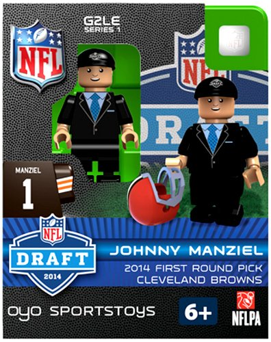 Johnny Manziel NFL Cleveland Browns First Round Draft Pick Oyo G2S1 Minifigure - 1