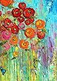 Toland Home Garden  Fabulous Flowers 12.5 x 18-Inch Decorative USA-Produced Garden Flag