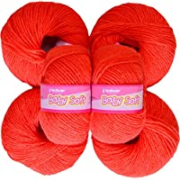 Vardhman Acrylic Knitting Wool, Pack Of 6 (Light Red) (Pack Of 8)